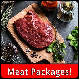 raw steak on cutting board
